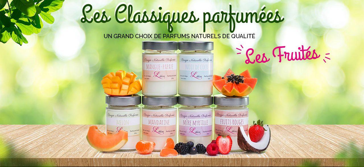 Les bougies classiques parfumées Les Fruités