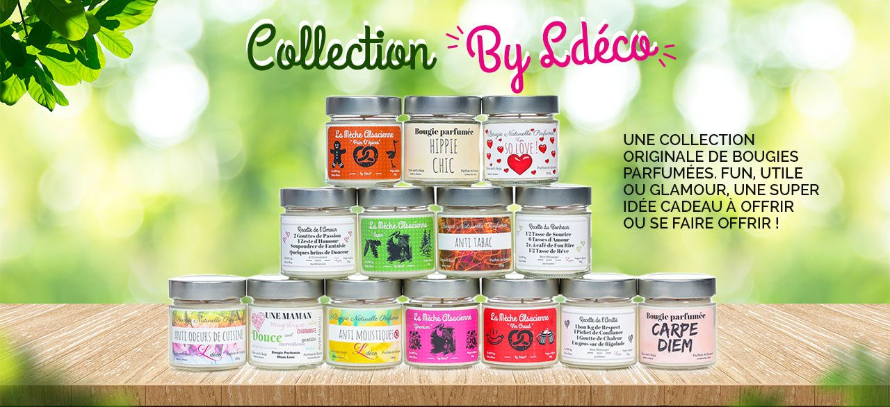 Les bougies de la collection By Ldéco