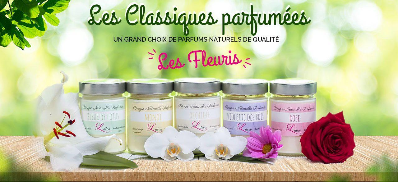 bougie collection fleuris