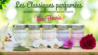 bougie collection fleuris