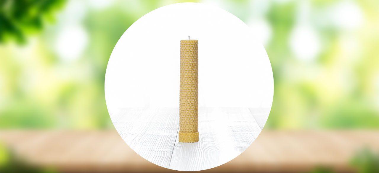 Les Bougies Cire d'Abeille grand pilier