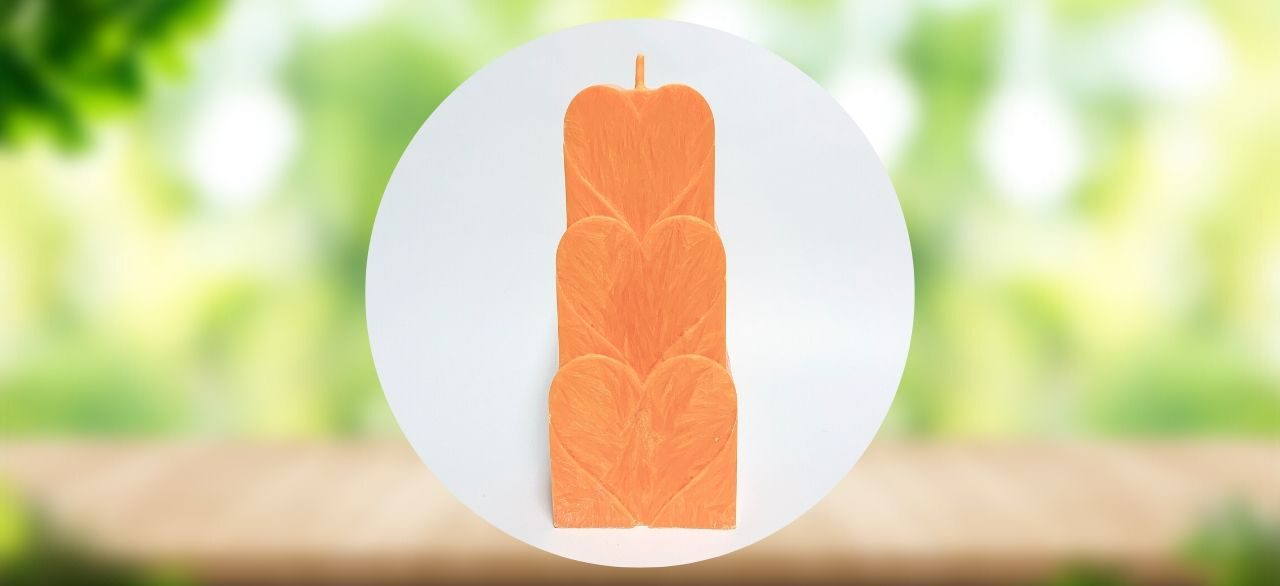 bougie d ambiance orange