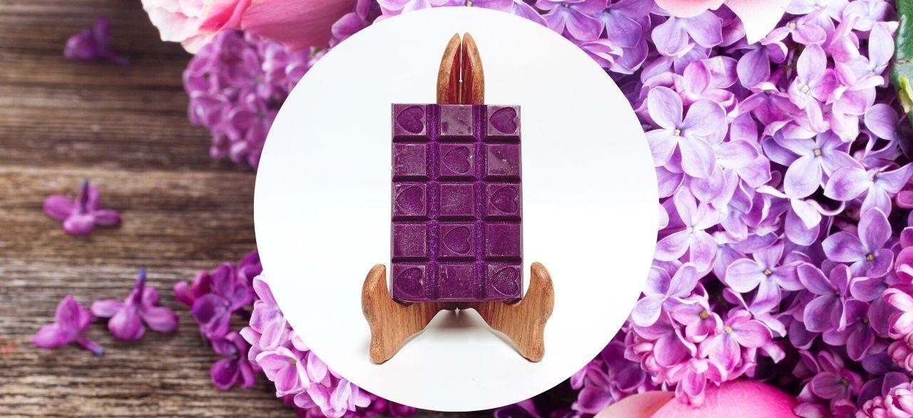 tablette de cire lilas