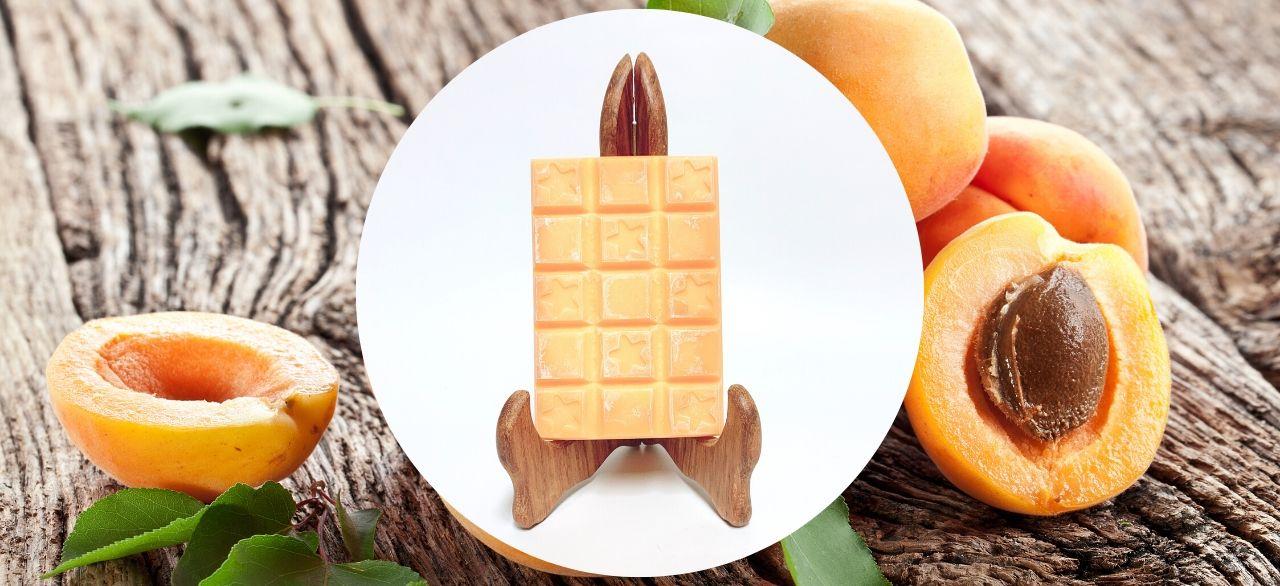 tablette de cire abricot