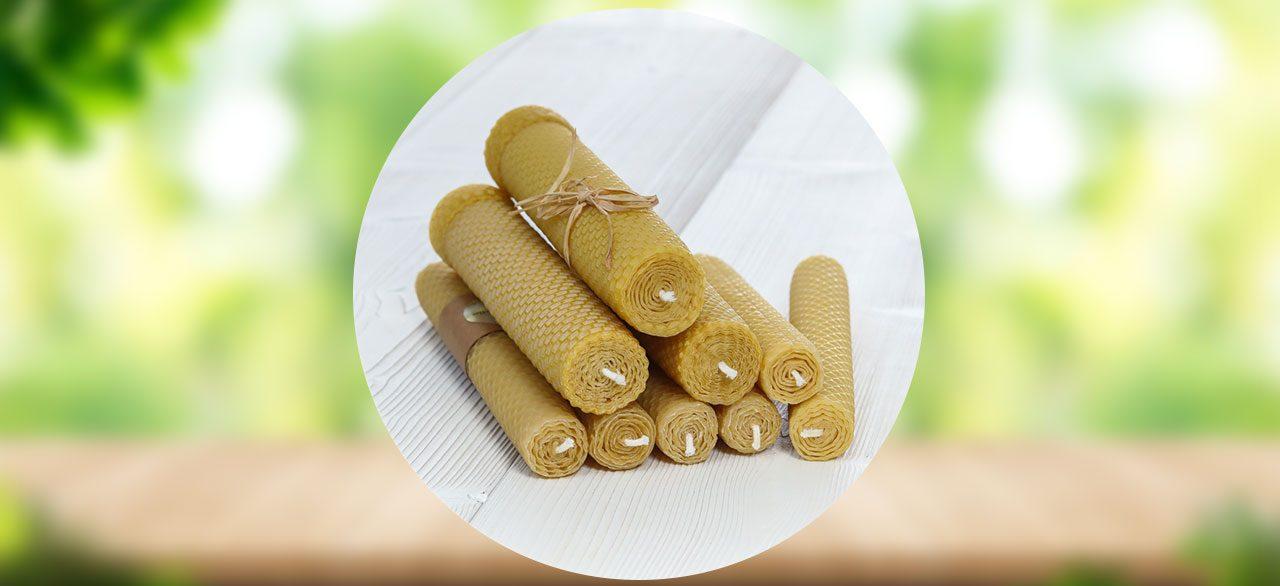 pilier de bougies cire d'abeille