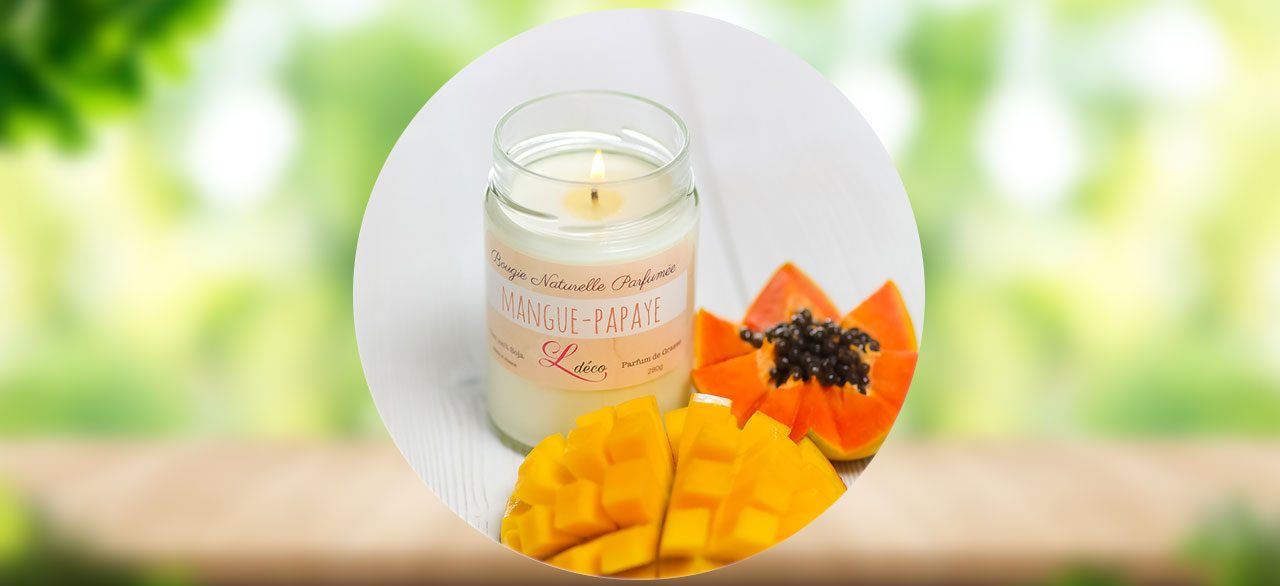 bougie mangue papaye Ldéco