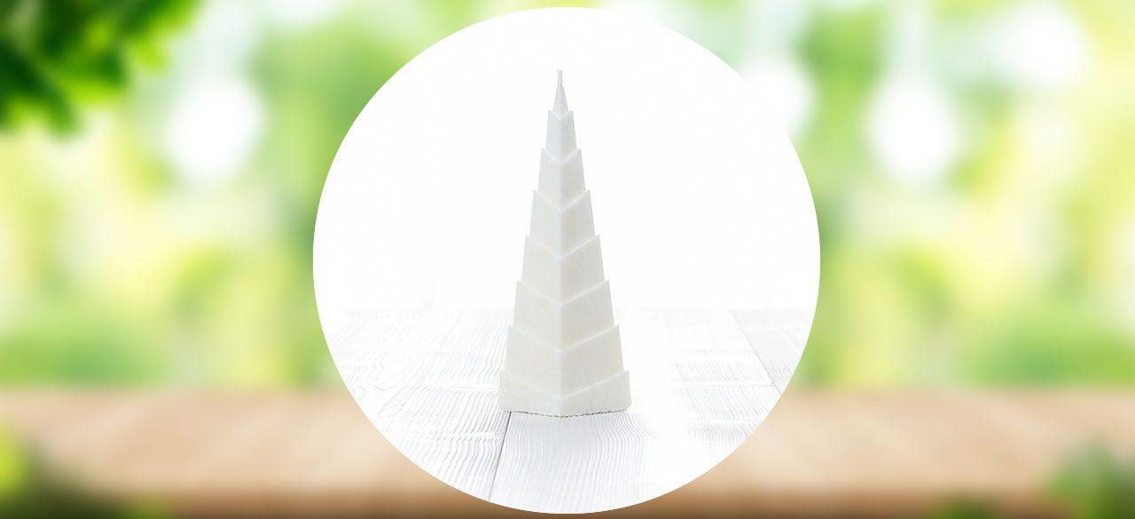 bougie pyramide blanc