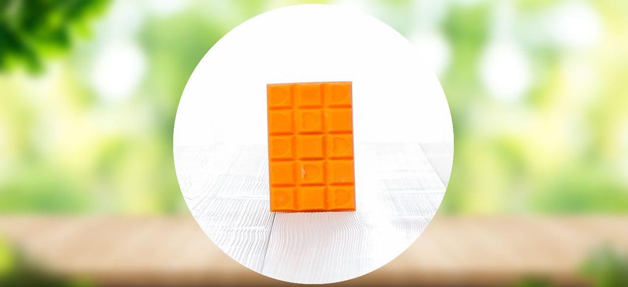 tablette cire abricot