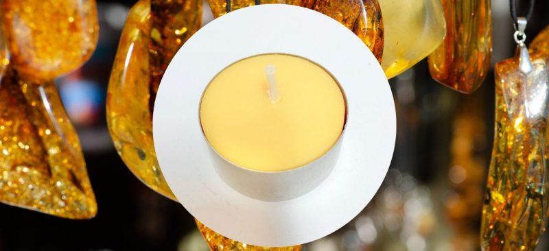 bougie chauffe plat ambre