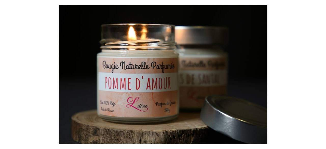 bougie parfumee pomme d amour