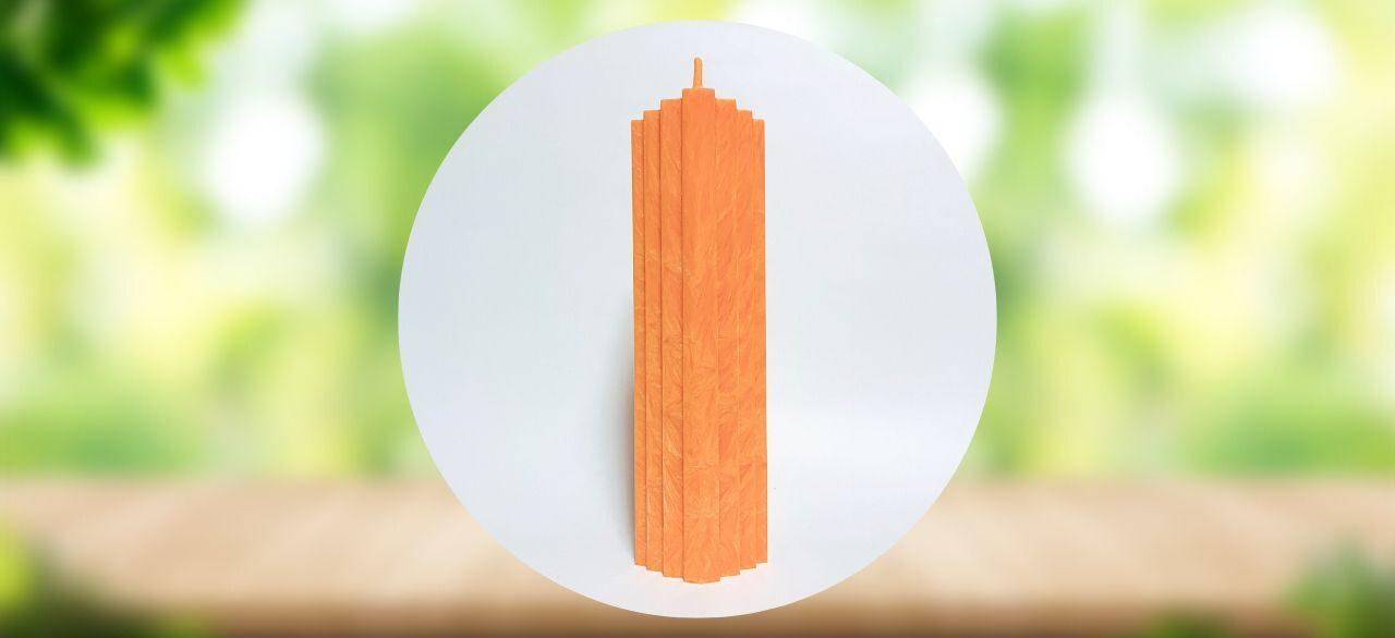bougie naturelle orange
