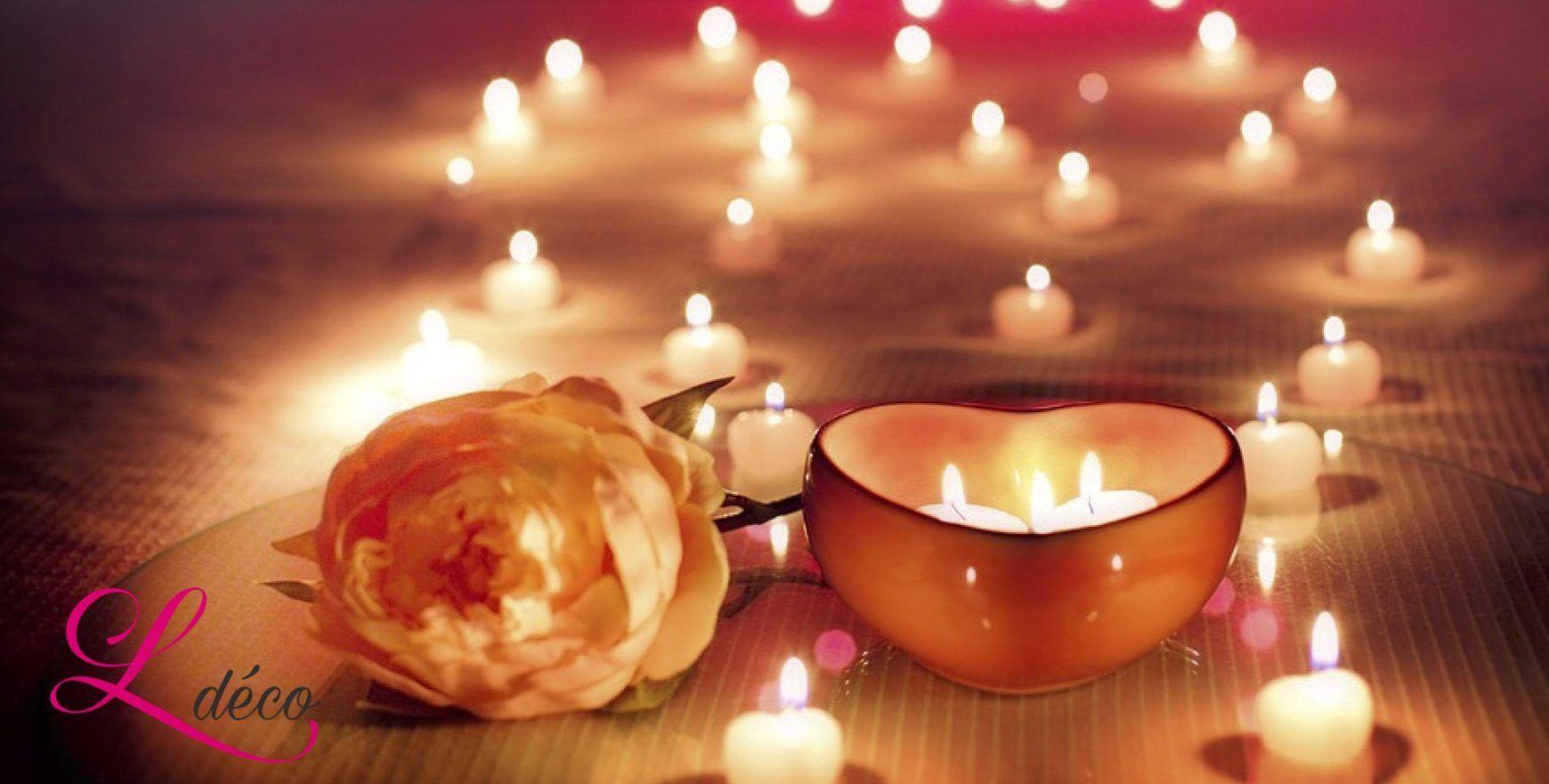 Des bougies romantique pour la Saint Valentin