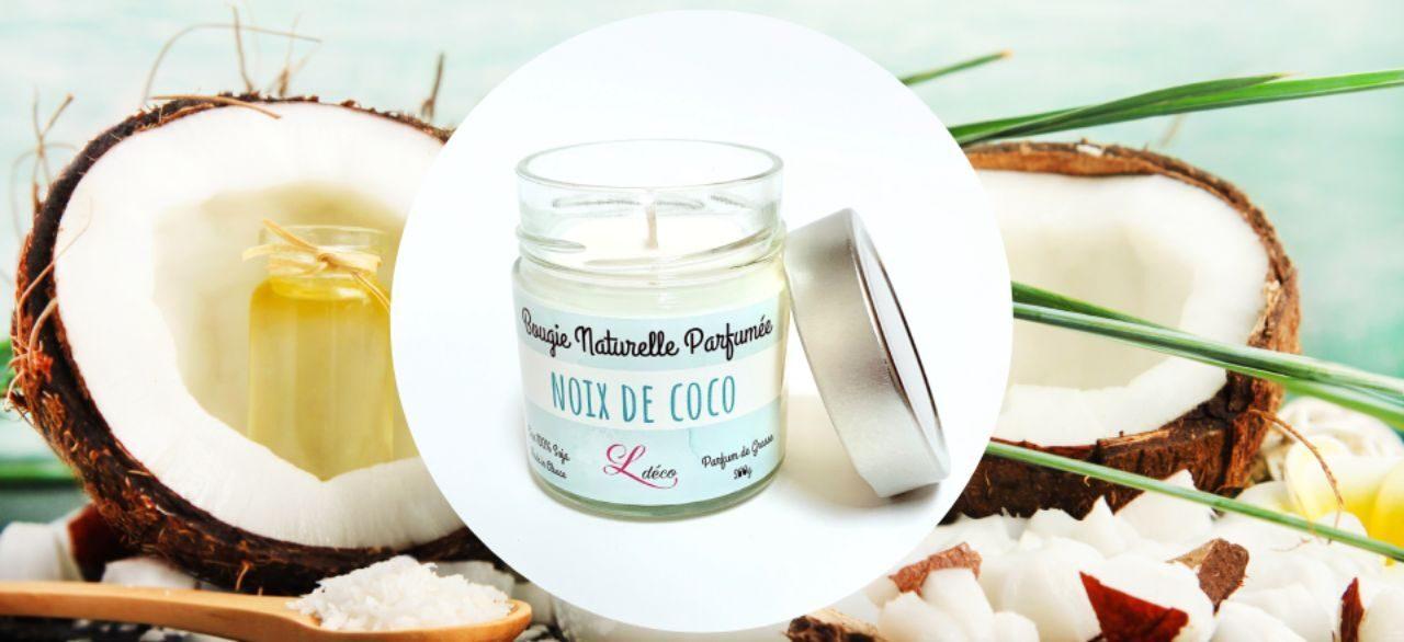 bougie parfumee naturelle coco