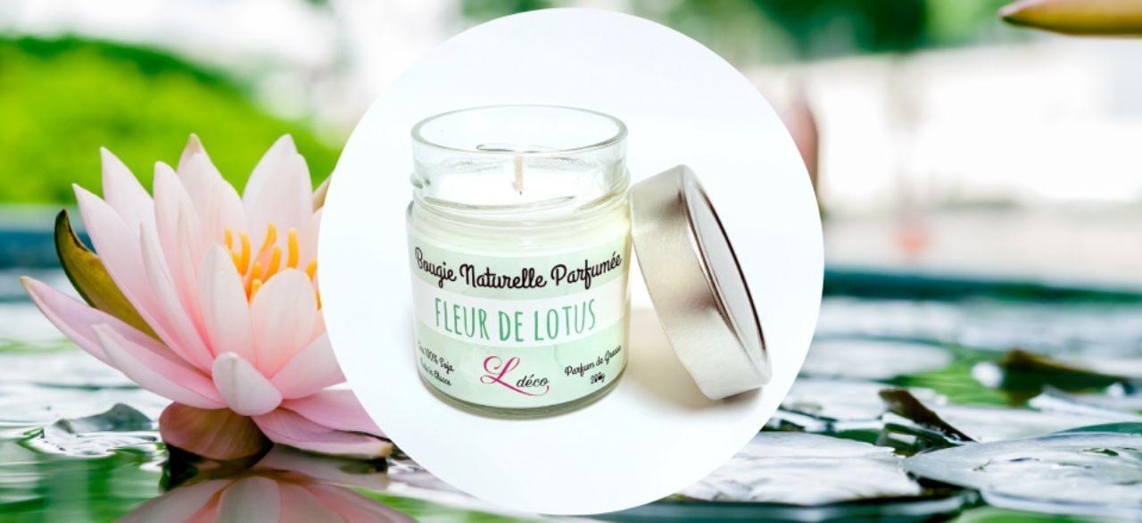 bougie artisanale fleur de lotus