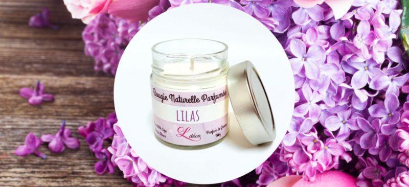 bougie parfumee naturelle lilas