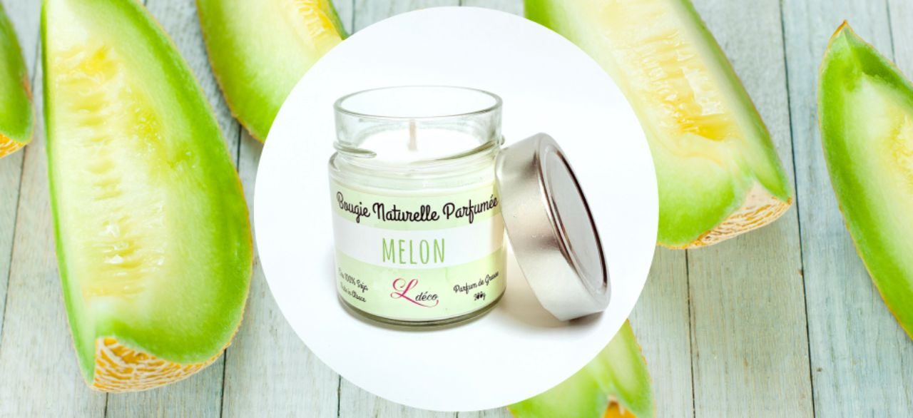 bougie naturelle melon