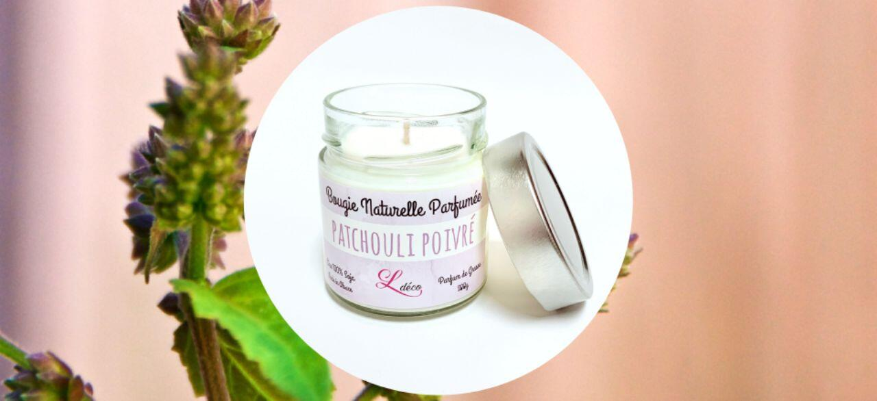 bougie naturelle patchouli