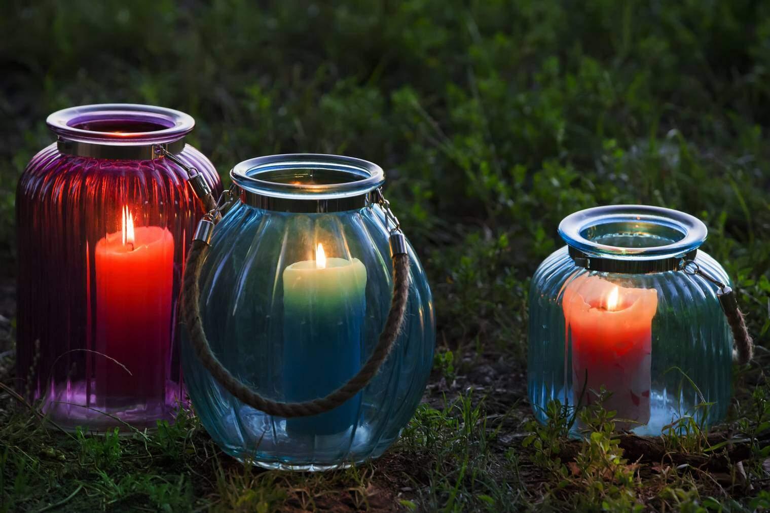 bougies decoratives jardin