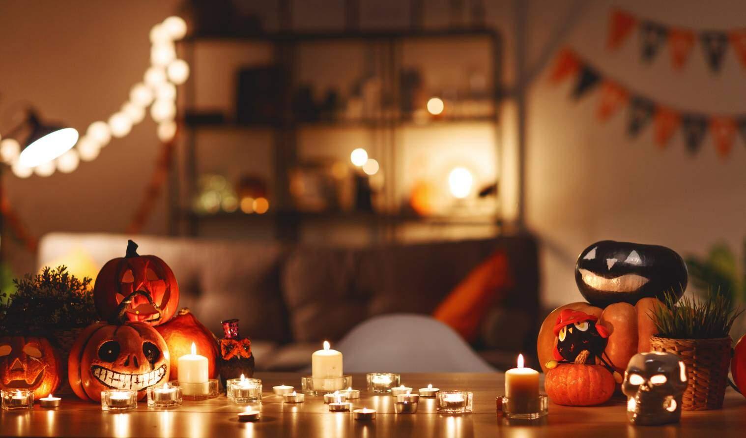 idees deco halloween avec des bougies