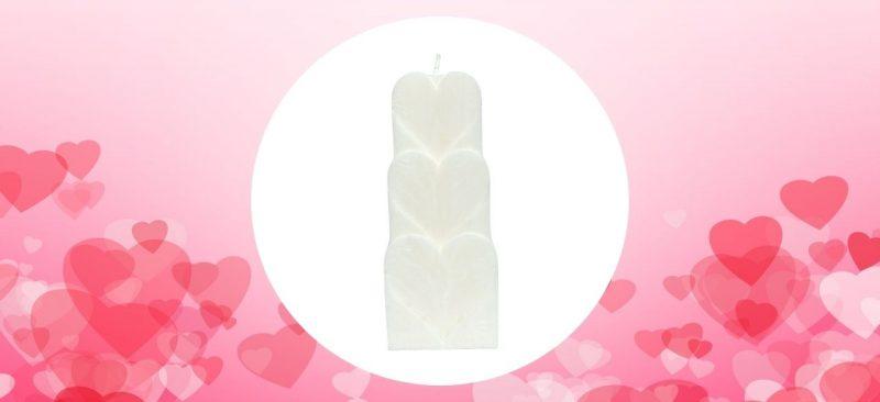 bougie coeur blanc